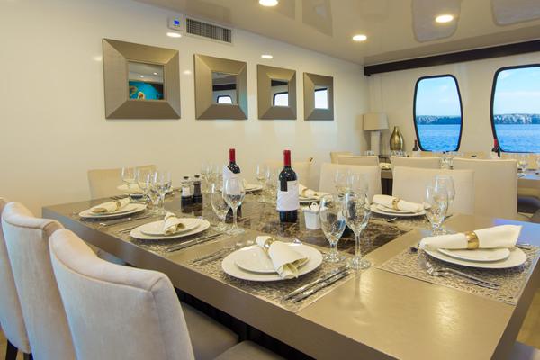 Alya Catamaran Galapagos Dining Room