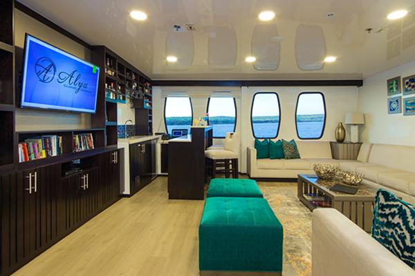 Alya Catamaran Galapagos Lounge