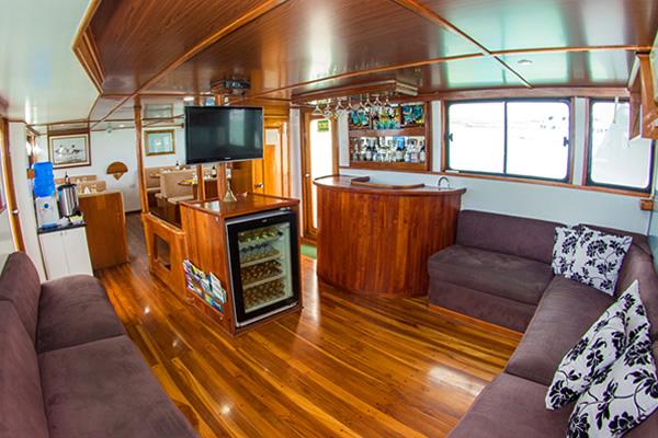 Lounge at Aqua Galapagos Yacht