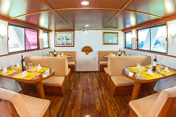 Dining Room Aqua Galapagos Yacht