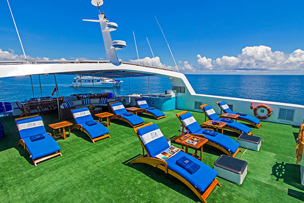 Sun Deck at Archipell II Galapagos Yacht