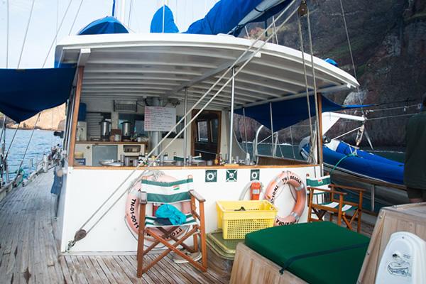Deck at Beagle Vessel Galapagos