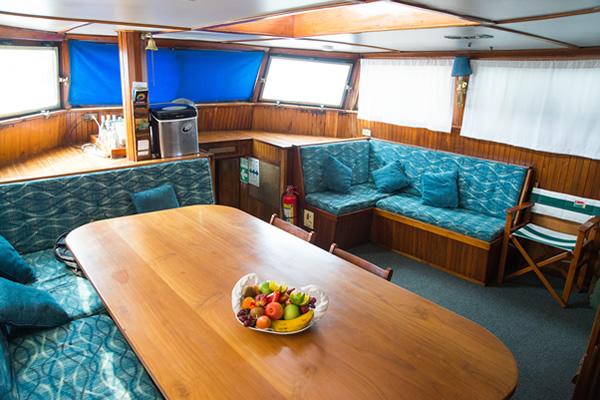 Dining Room at Beagle Galapagos Cruise