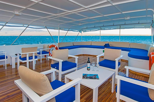 Upper Deck Lounge Area - Blue Spirit Yacht