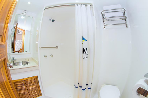 Bathroom at Blue Spirit Galapagos Yacht