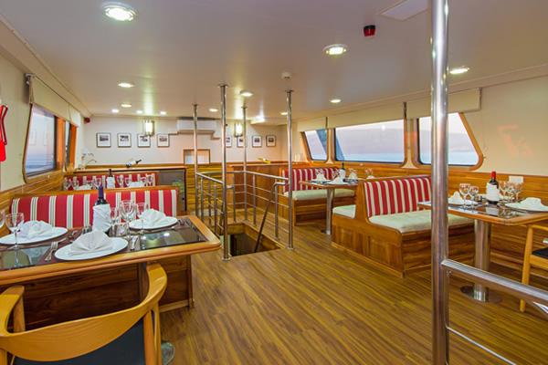 Dining Room at Blue Spirit Galapagos Boat