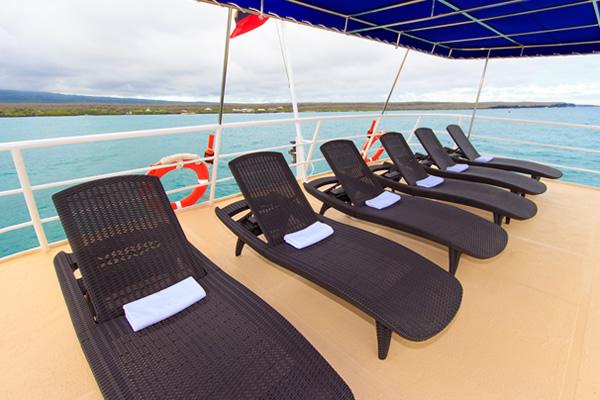 Sundeck at Cachalote Galapagos Cruise