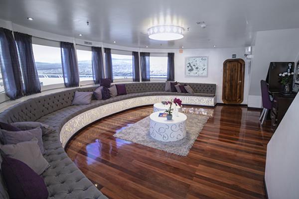 Lounge at Calipso Galapagos Yacht