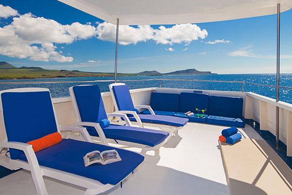 Sundeck at Danubio Azul Galapagos Yacht