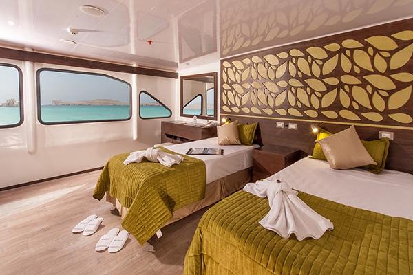 Cabin at Eco Galaxy Galapagos Cruise