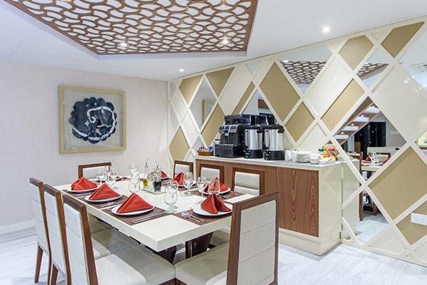 Dining Room at Elite Galapagos Catamaran