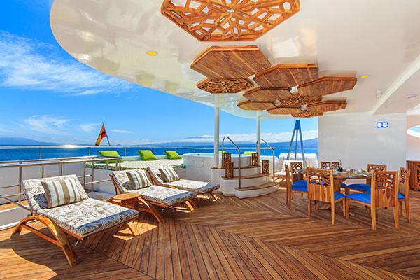 Sundeck at Elite Galapagos Cruise