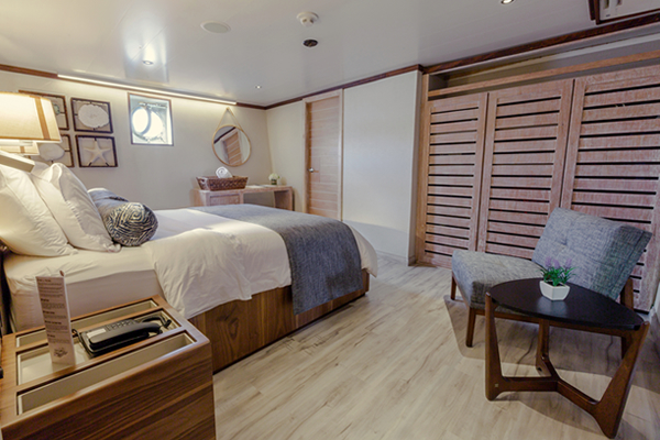 Room at Evolution Galapagos Cruise Yacht