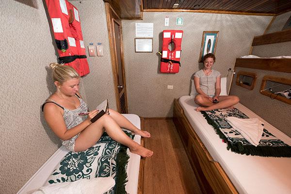 Room at Fragata Galapagos Cruise