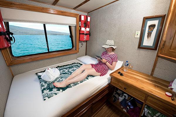 Cabin at Fragata Galapagos Cruise