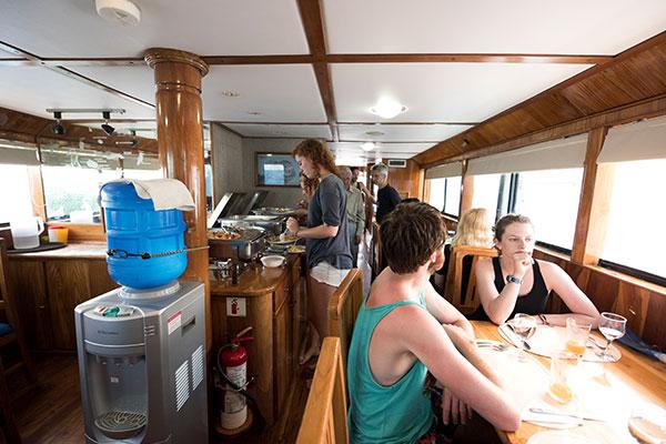 Dining Room - Fragata Galapagos Cruise Boat
