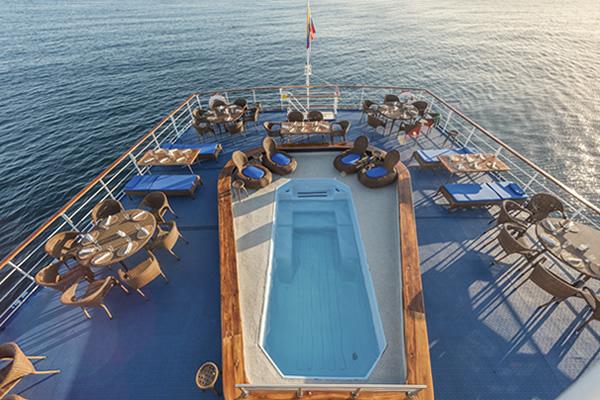 Pool Deck - Galapagos Legend Ship