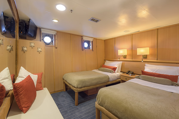 Cabin at Legend Galapagos Cruise Boat