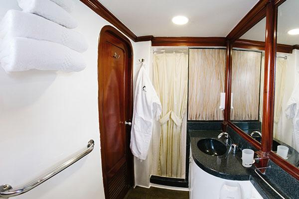 Bathroom at Galapagos Sky Cruise