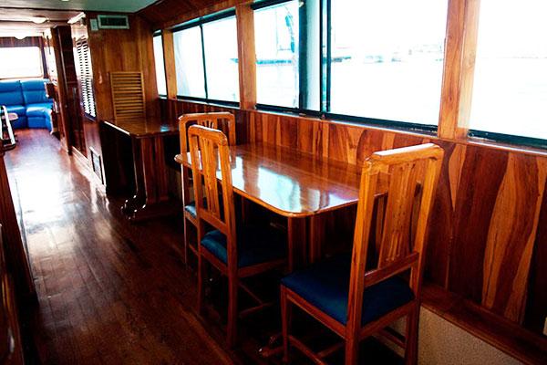 Dining Area at Golondrina Galapagos Yacht