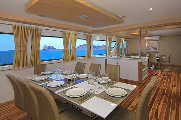 Dining Room at Queen Elizabeth Galapagos Boat