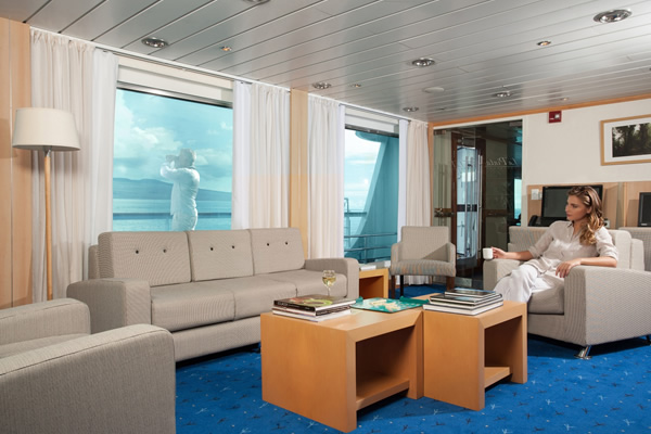 Lounge Area - La Pinta Galapagos Cruise