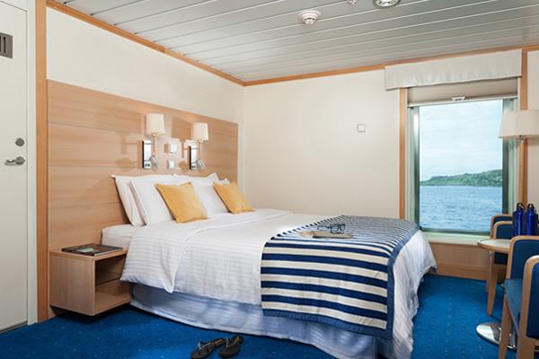 Cabin at La Pinta Galapagos Cruise Ship