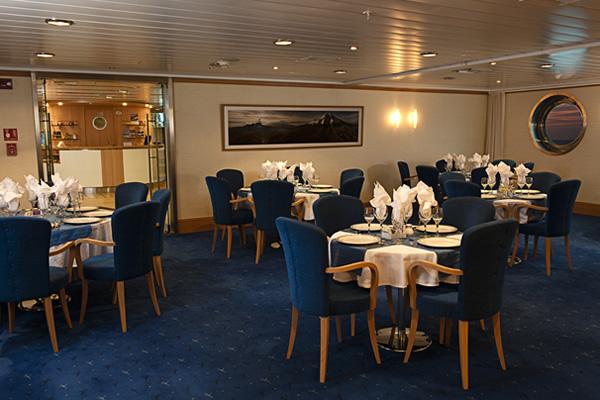 Dining Room at La Pinta Galapagos Cruise