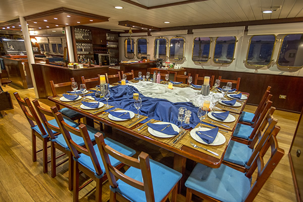 Dining Room at Mary Anne Vessel - Galapagos