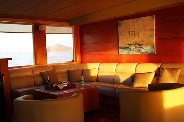 Lounge at Millenium Catamaran