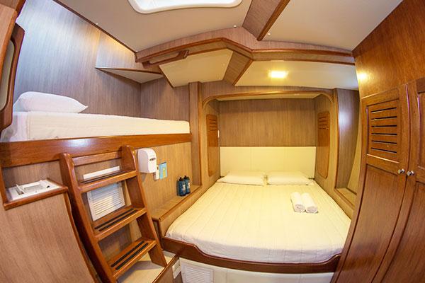 Cabin at Nemo III Galapagos Cruise Boat