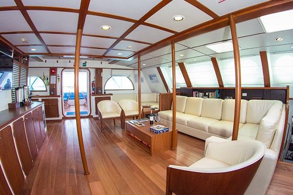 Lounge Area at Nemo III Galapagos Cruise