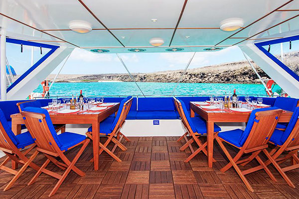 Dining with View at Nemo III Galapagos Cruise Boat