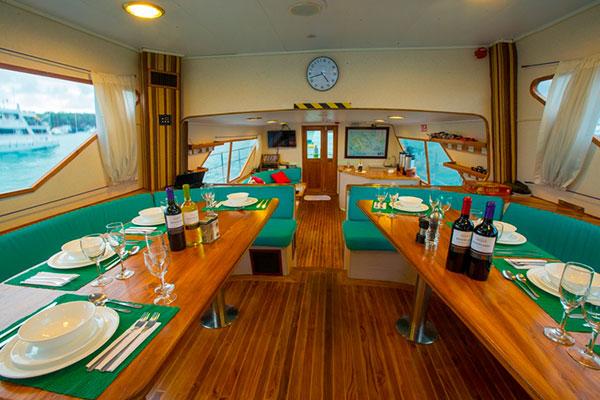 Dining Room at Nortada Galapagos Cruise
