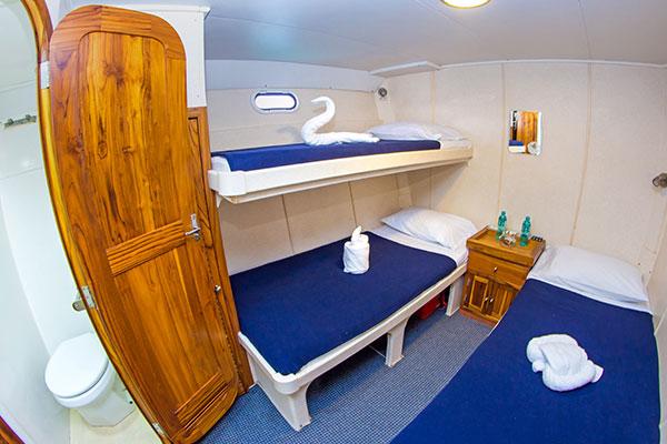 Cabin at Nortada Galapagos Cruise