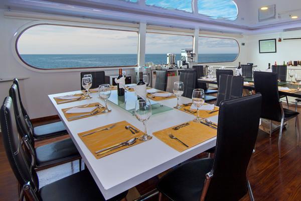 Petrel Dining Room - Galapagos Cruise
