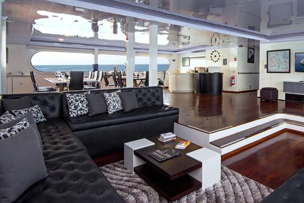 Lounge at Petrel Catamaran - Galapagos
