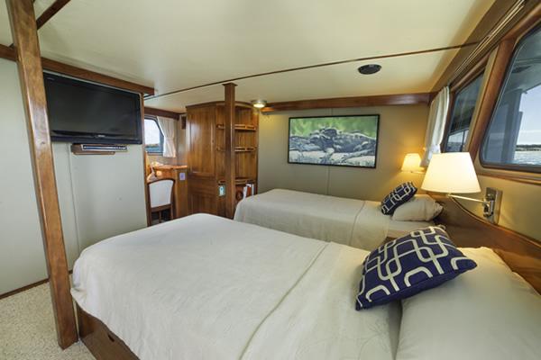 Cabin at Reina Silvia Galapagos Cruise
