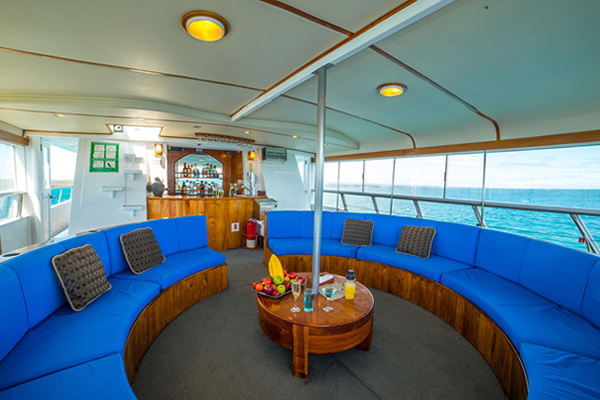 Outdoor Lounge - Reina Silvia Galapagos Cruise