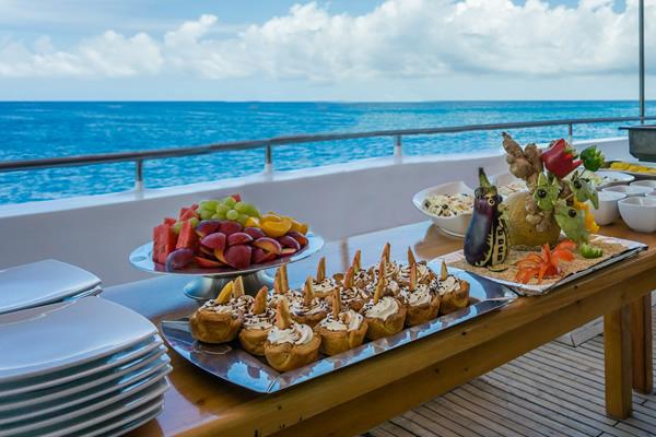 Outdoor Dining at Seaman Journey Galapagos Cruise