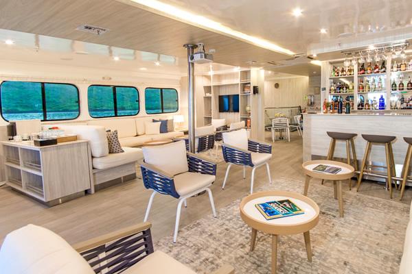 Lounge at Solaris Galapagos Cruise Yacht