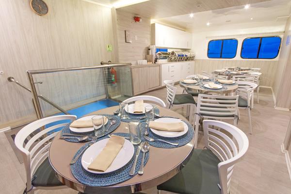 Dining Room at Solaris Galapagos Cruise