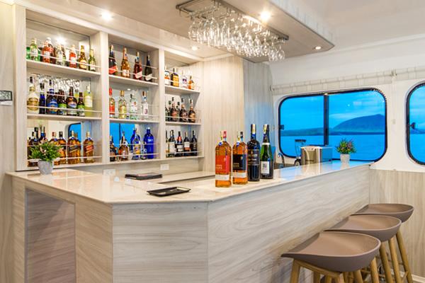 Bar at Solaris Galapagos Cruise