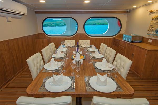 Dining Room at Tip Top II Galapagos Cruise