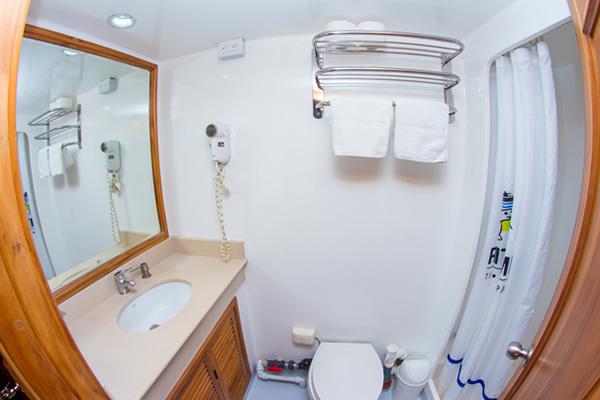 Bathroom at Tip Top IV Galapagos Cruise