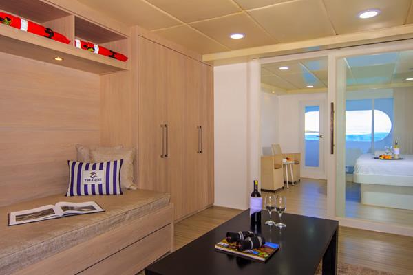 Suite at Treasure of Galapagos Cruise
