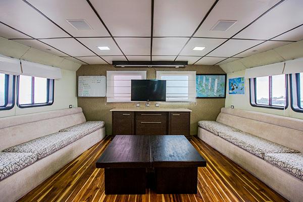 Lounge at Xavier III Galapagos