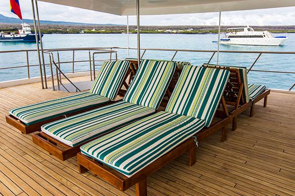Sundeck at Xavier III Galapagos Cruise Yacht