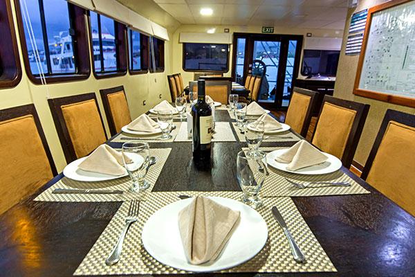 Dining Room - Xavier III Galapagos Cruise