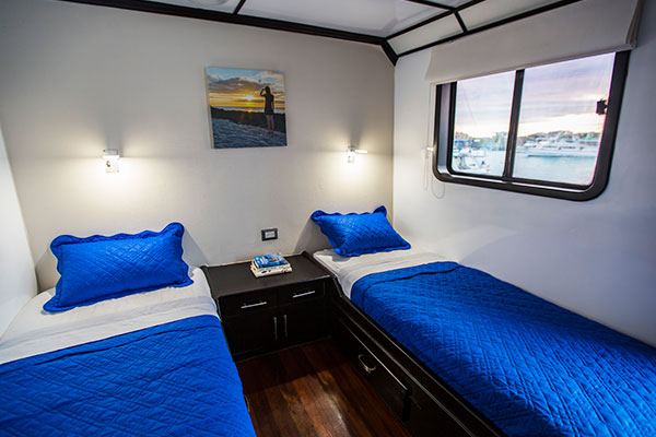 Cabin at Xavier III Galapagos Cruise Boat